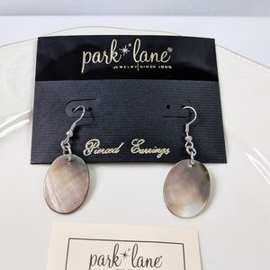 Natural Shell Pierced Earrings by Park Lake NEW